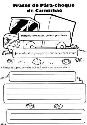 Frases De Parachoque De Caminhão Ensino Fundamental I